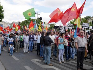 "Paris'ta ""Suruç"" protestosu"